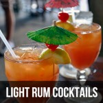 Light Rum cocktails