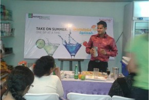 Mocktail Workshop @ Godrej Nature's Basket World Food Store, Hyderabad