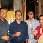 Divyanshu, extreme left at the launch of Turning Point Sangria