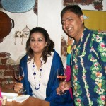 Suneeta Sodhi Kanga with a friend, at the launch of Turning Point
