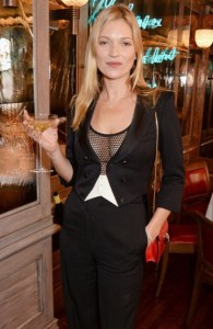 Kate Moss - Got a Champagne Saucer made in the mold of her breast to celebrate 25 years in the fasion industry
