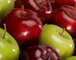 red n green apples