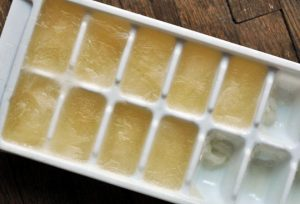 frozen ice cube