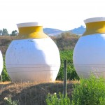 ​Traditional Talhas, Amphorae, in front of a winery​